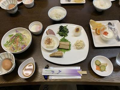 赤沢温泉旅館の朝食