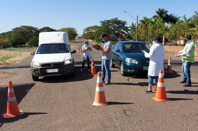 Barreira sanitária é instalada no trevo principal de PACAEMBU