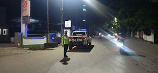 Patroli Biru Sat Lantas Polres Enrekang, Berikan Rasa Aman Dan Nyaman Kepada Masyarakat