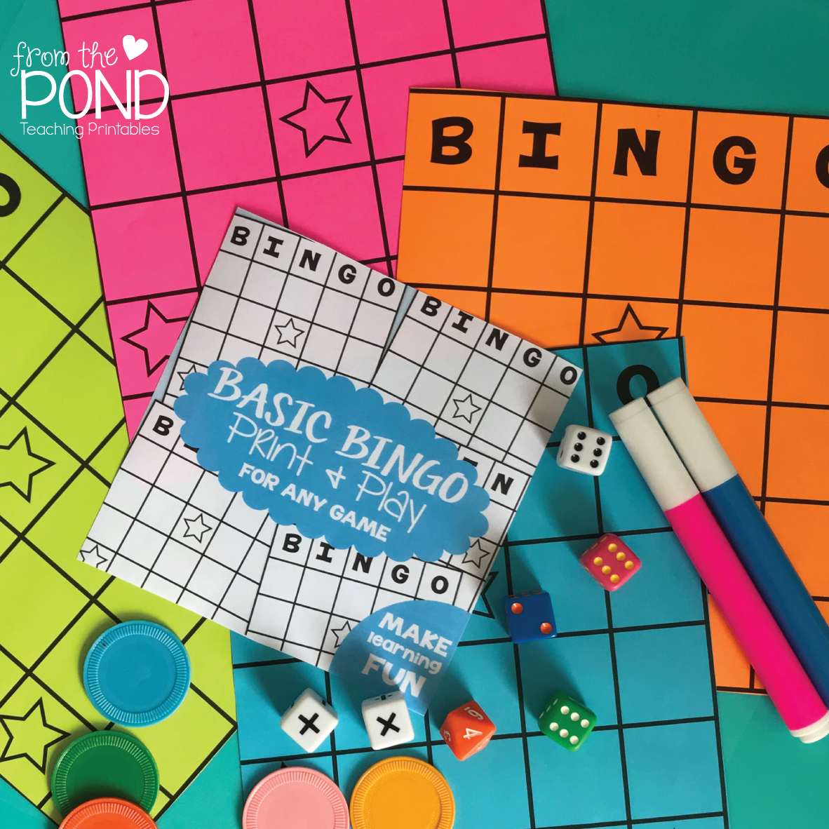 FREE Write in and Win Bingo Board Worksheet | From the Pond