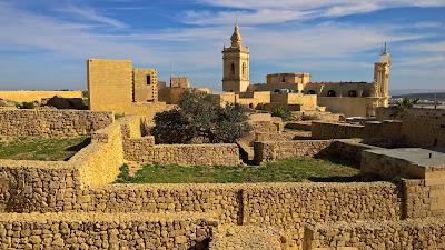 View inward of Cittadella, Victoria, Malta.