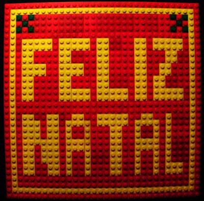 MOC LEGO mosaico Feliz Natal