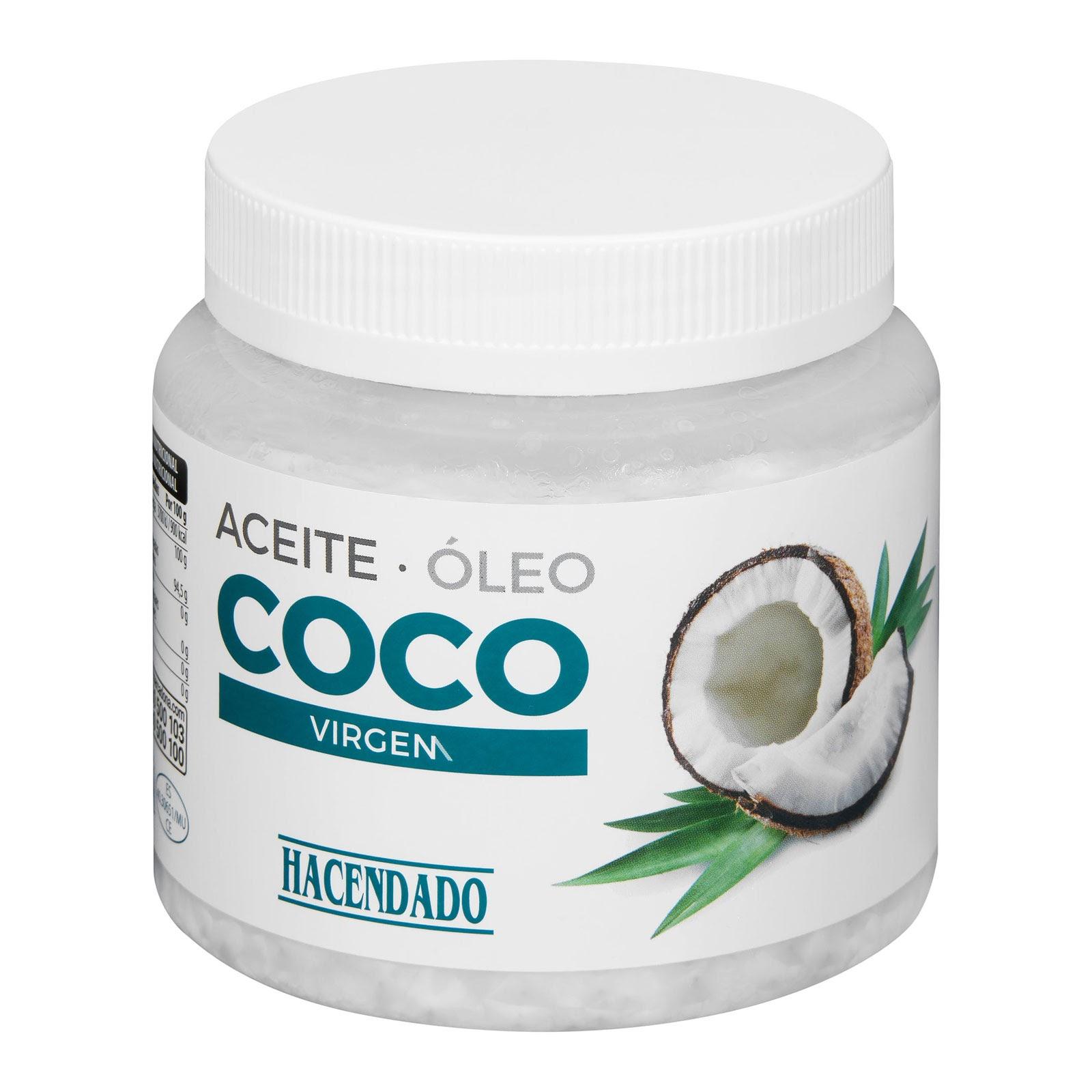 Aceite de coco virgen Hacendado