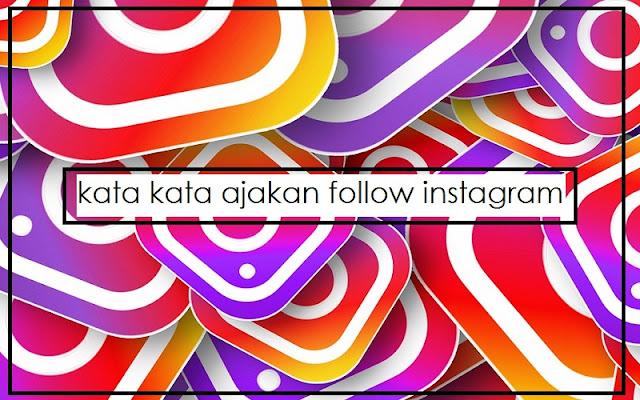 ajakan follow instagram
