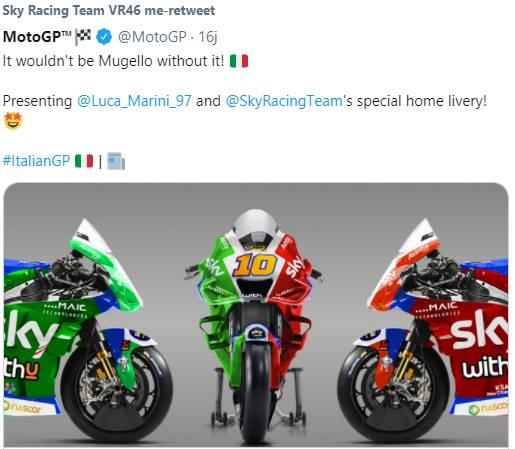 Ducati Sky46: Livery Khusus Desmosedici Milik Marini di GP Italia 2021, Mirip Bendera ITALIA!
