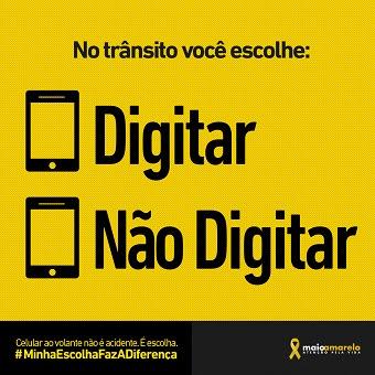 Detran promove campanha #MinhaEscolhaFazADiferença no 'Maio Amarelo'