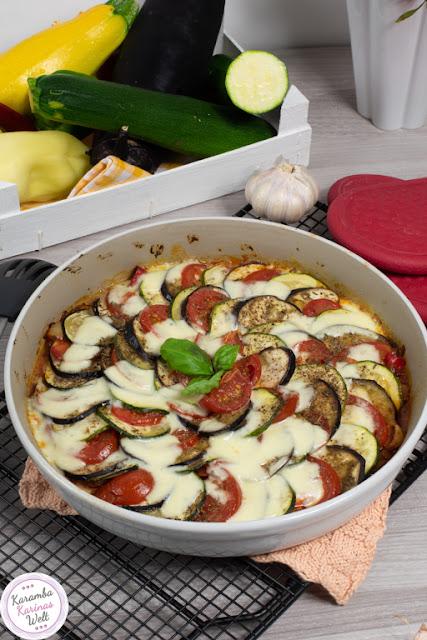 Rezept für Backofen Ratatouille mit Mozzarella