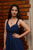 Radhika Mehrotra in a Deep neck Sleeveless Blue Dress at Mirchi Music Awards South 2017 ~  Exclusive Celebrities Galleries 029.jpg