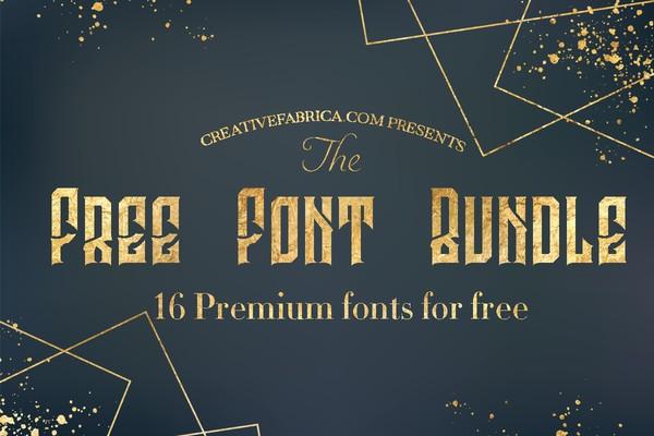 16 Premium Font Bundle Limited Edition