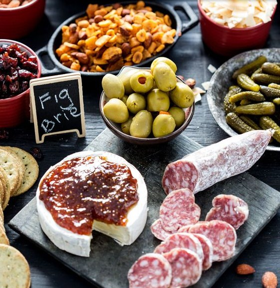 Salami and Fig Holiday Appetizer Platter