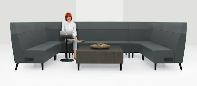 global river modular lobby seating with power