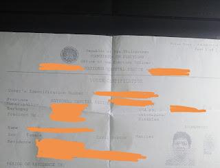 Voter's Certificate
