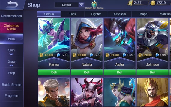 Hero Terbaik Mobile Legends Minggu Ini (Win Rate/Pick Rate)