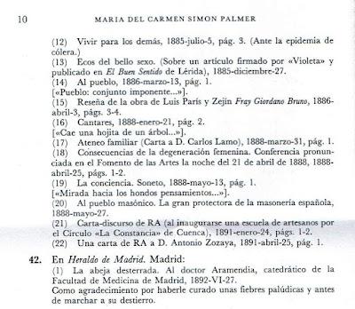 Fragmento de Escritoras españolas del siglo XIX. Manual bio-bibliográfico