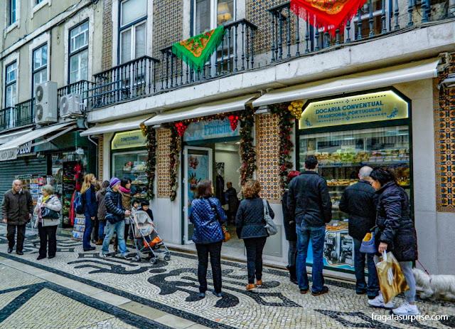 pastelaria especializada em doces conventuais na Rua Augusta, Lisboa