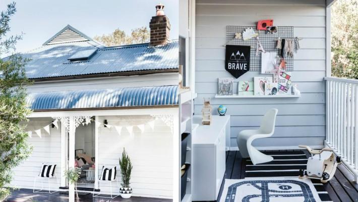 Una casa en Australia decorada para Navidad