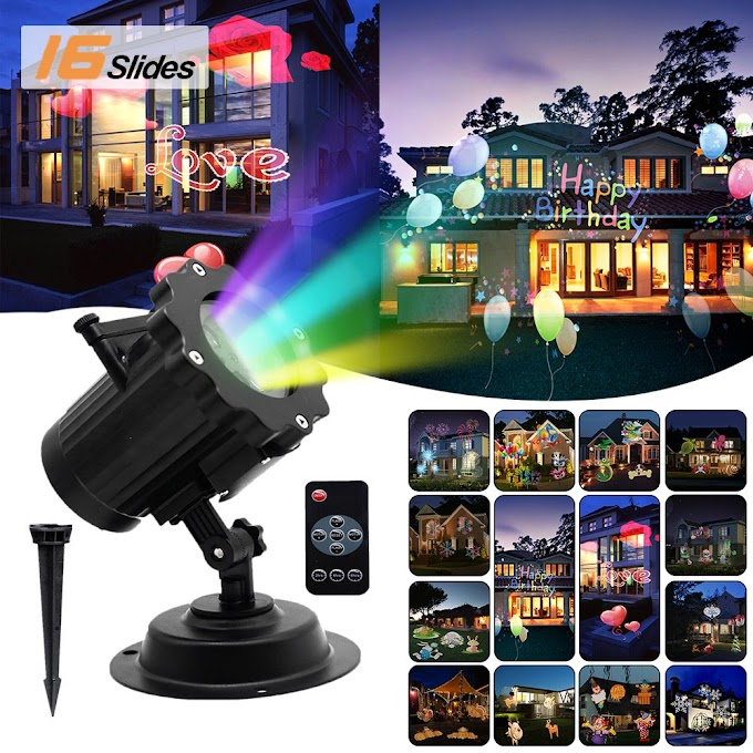 AMAZON - LED Projector Lights, Waterproof Outdoor  16 Slides & Remote Control