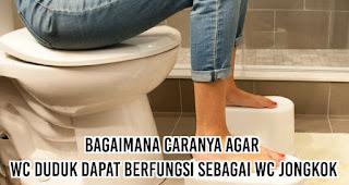 Bagaimana caranya agar wc duduk dapat berfungsi sebagai wc jongkok