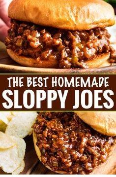 The Best Homemade Sloppy Joes