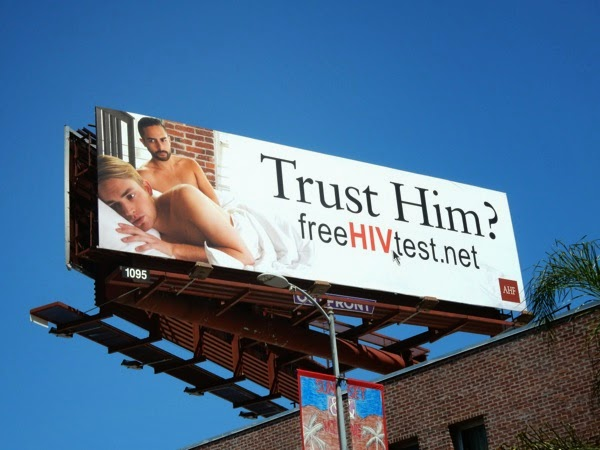 Trust Him HIV test same sex billboard