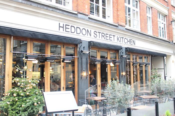 london, winter, christmas, decorations, soho, west end, heddon street kitchen, gordon ramsay