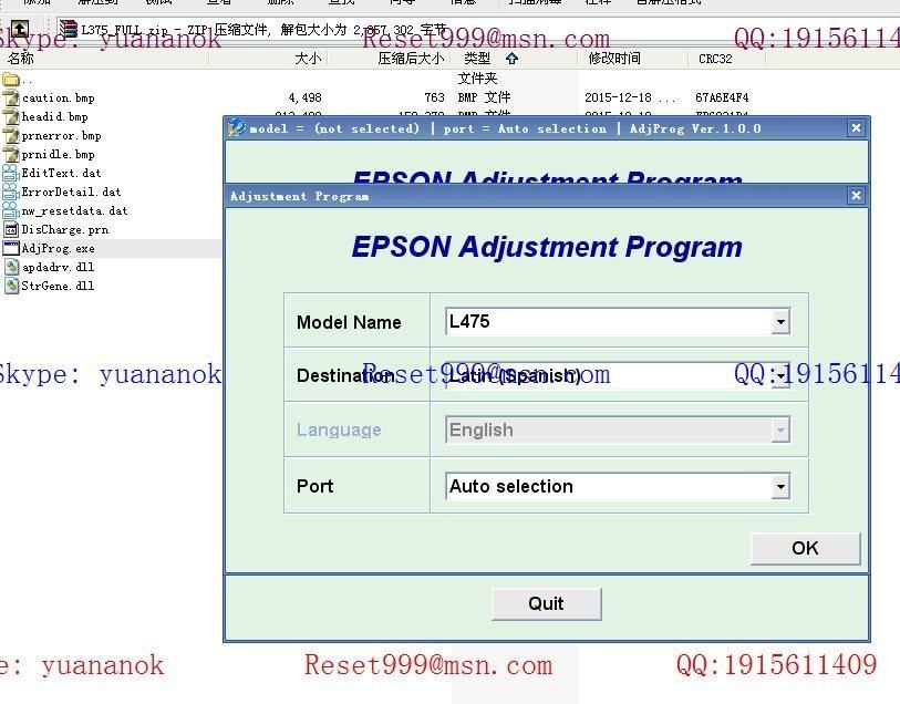 programa reset epson tx125