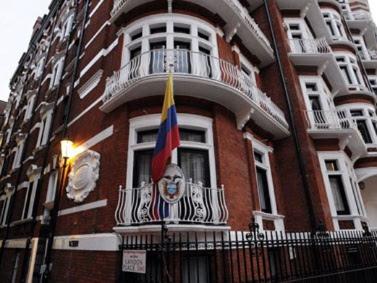 Embajada de Ecuador en Londres. Foto: EFE