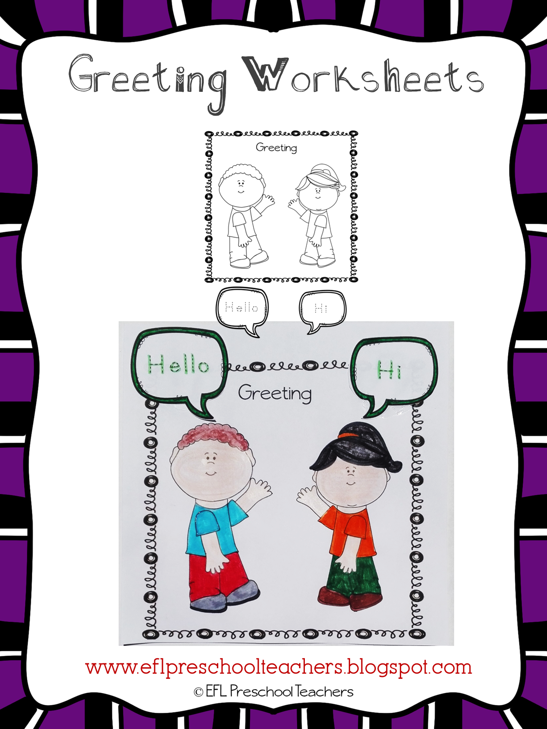Esl Efl Preschool Teachers Greetings Theme Resources For Ell