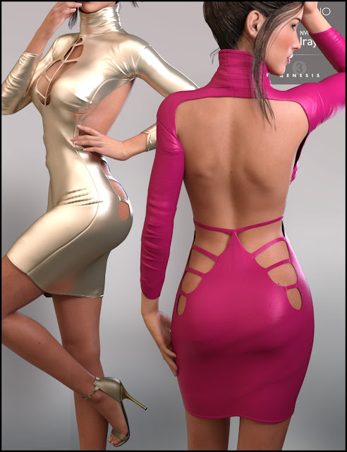 Nadia Outfit HD for Genesis 3 Female