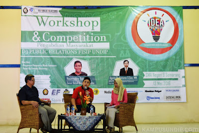 """Mahasiswa Undip Gelar Talkshow """"IdeaPreneur"""" di SMAN 9 Semarang"""