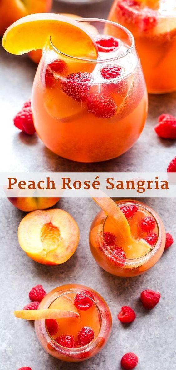 BEST PEACH ROSE SANGRIA