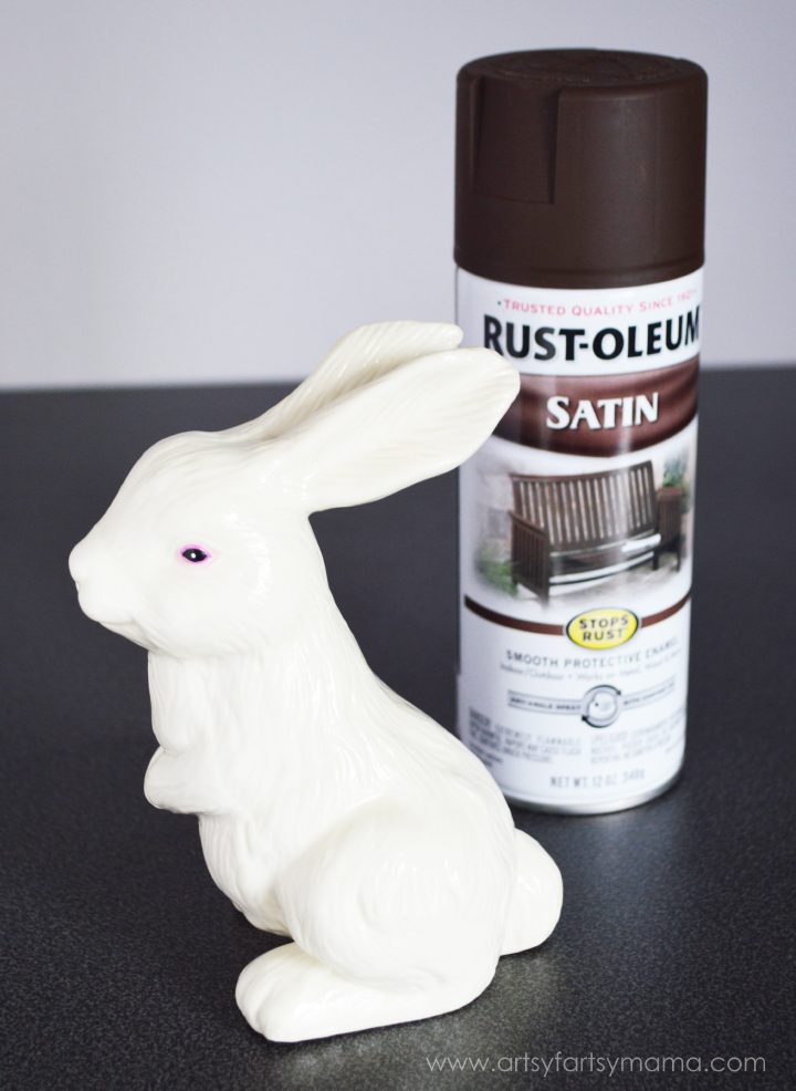 Faux Chocolate Easter Bunny at artsyfartsymama.com