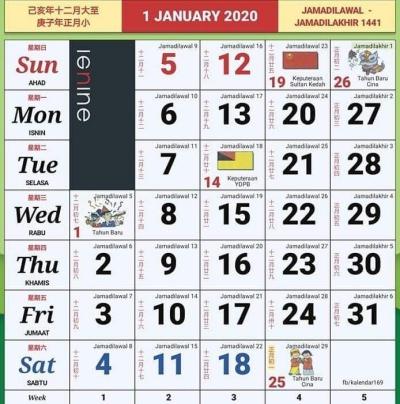 kalendar kuda 2020 malaysia facebook
