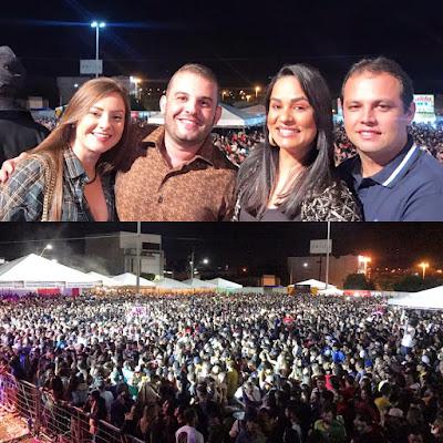 VEREADOR MAX DE ZÉ DE TOINHO PARTICIPOU DA FESTA SOCIAL DA PADROEIRA DE GLÓRIA.