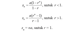 Perbedaan barisan dan deret geometri