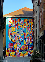 viñeta en fachada centro de Bruselas