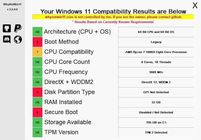 برنامج الجديد يمكنك معرفة سبب عدم توافق Windows 11 مع جهازك