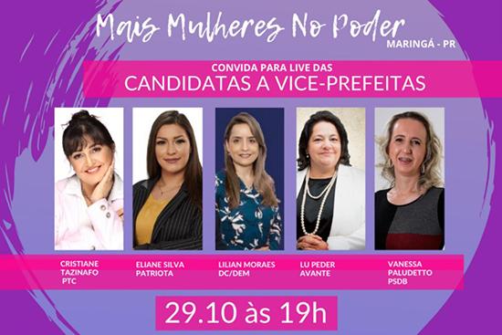 Live com as candidatas a vice-prefeita de Maringá. Café com Jornalista