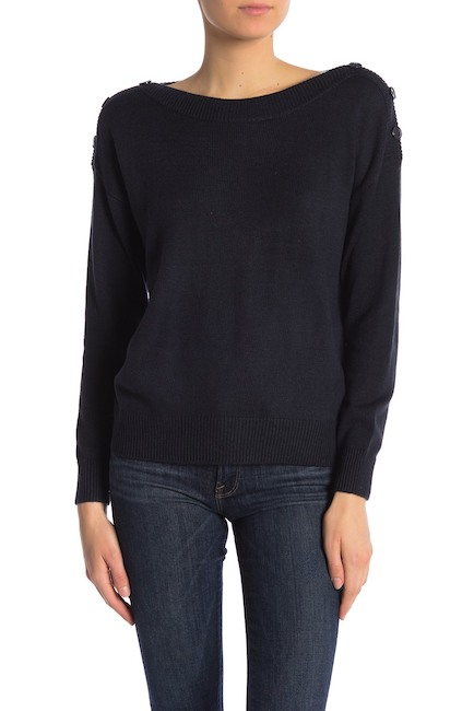 Joie Gadelle Button Shoulder Sweater