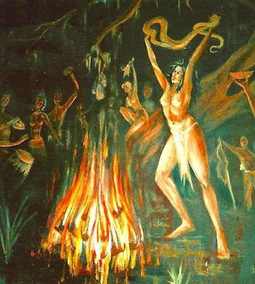 Τελετή βουντού της παράδοσης της Νέας Ορλεάνης - New Orleans voodoo dance