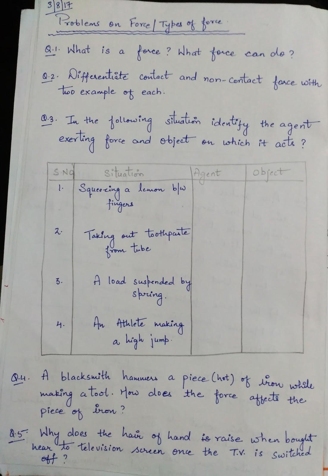 Aps Golconda Priyanka Gupta Class 9 Worksheet On