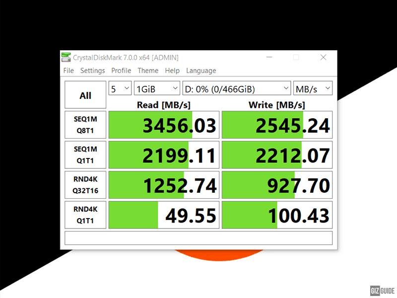 Kingston KC2500 SSD benchmark