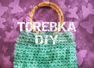 Szydełkowa zielona torebka koszyk DIY