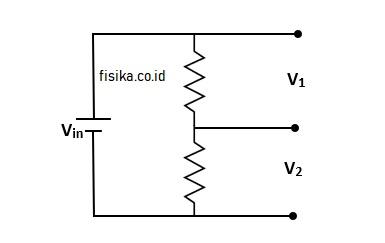 resistor berfungsi pembagi tegangan