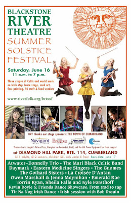 Blackstone River Theatre - Summer Solstice Festival is Saturday, June 16