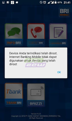 cara mengatasi root device detected bri - mengatasi bri mobile root
