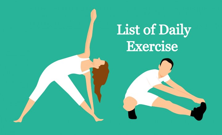 List of daily exercise