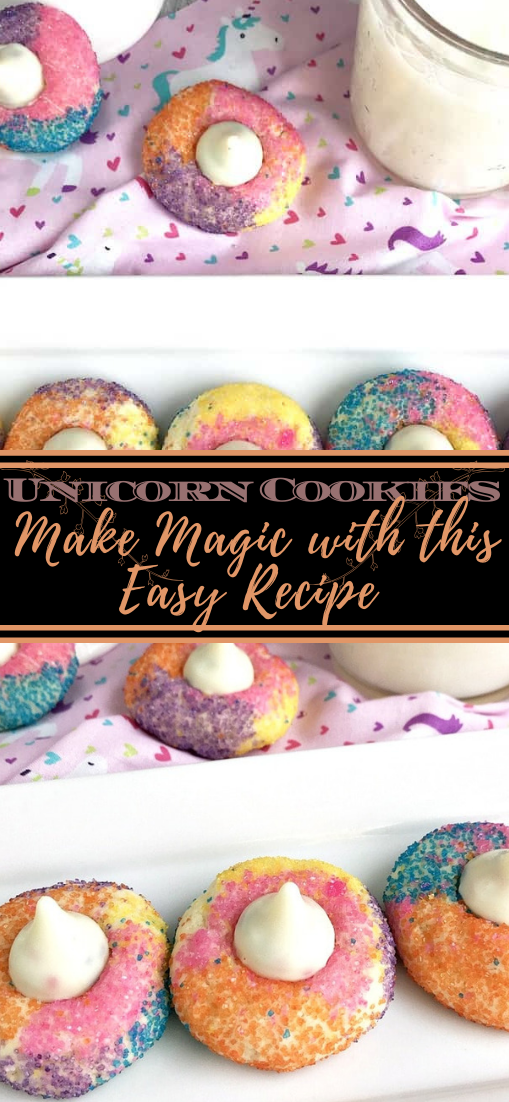 Unicorn Cookies Make Magic with this Easy Recipe #desserts #cakerecipe #chocolate #fingerfood #easy