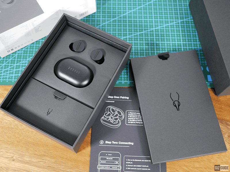 The sleek packaging with a matte finish