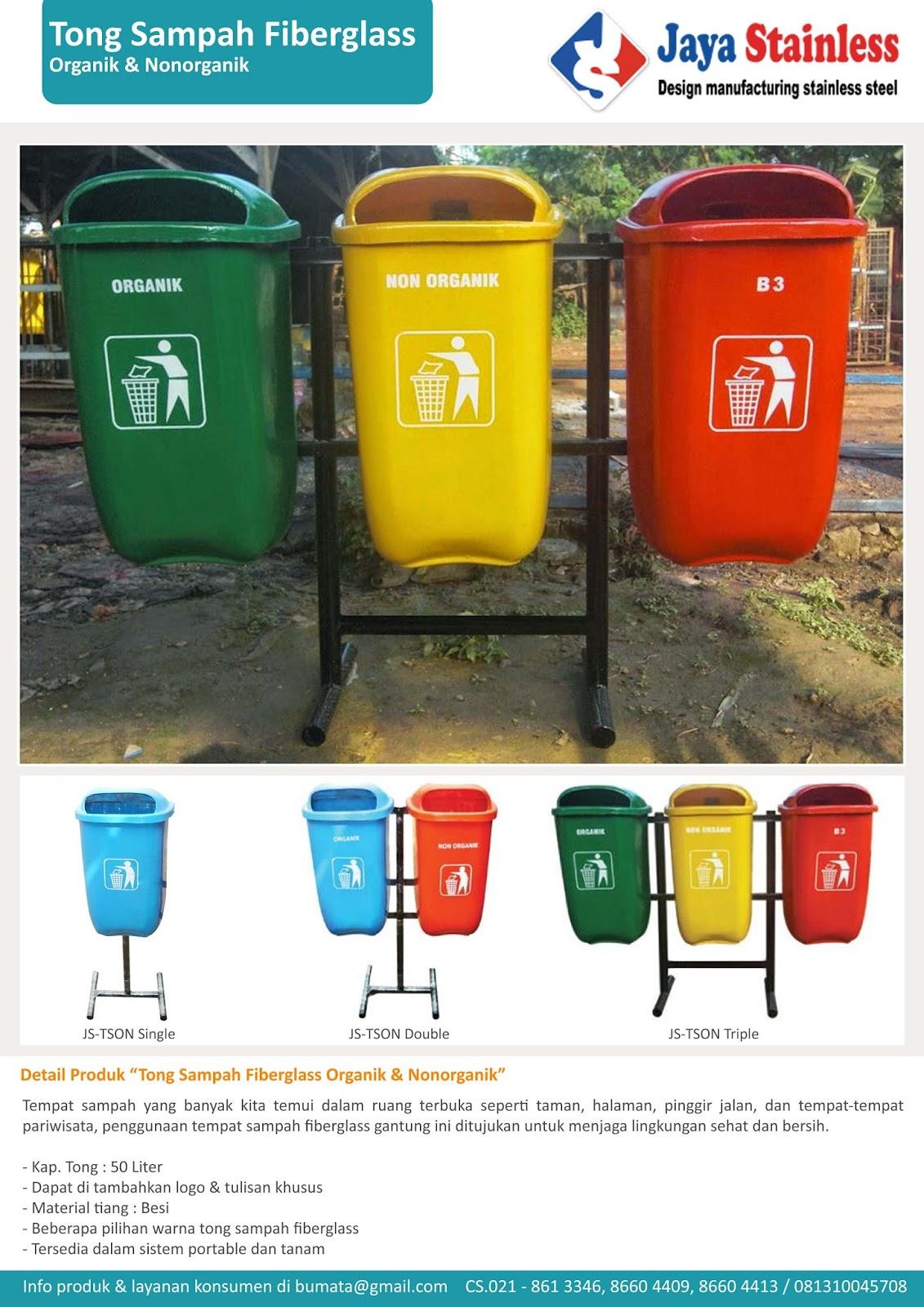 Katalog tempat sampah fiberglass